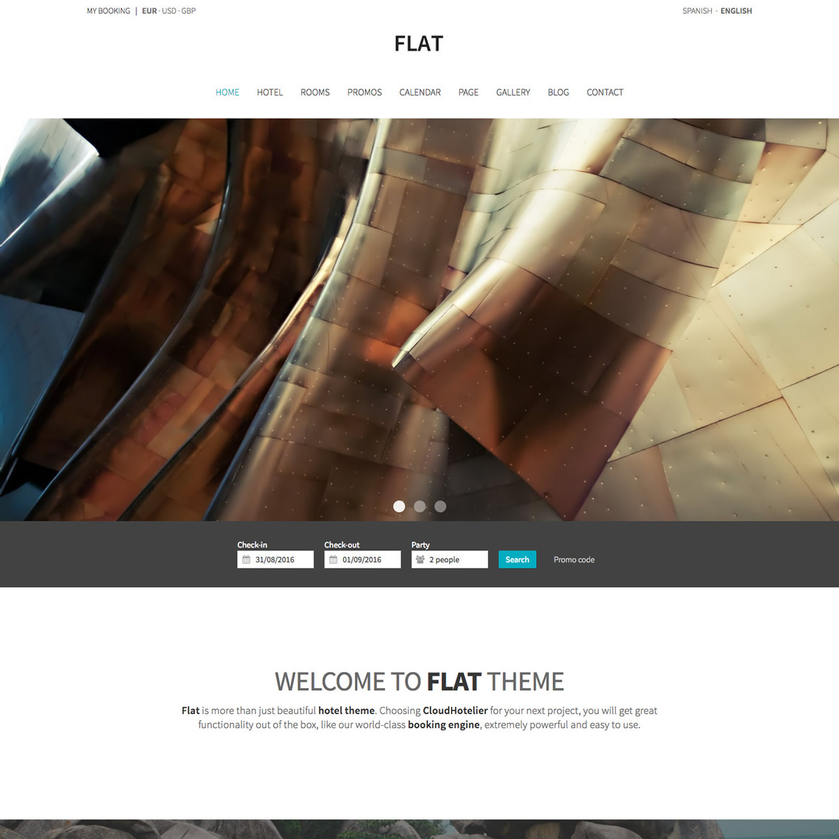 CloudHotelier Flat Hotel Theme