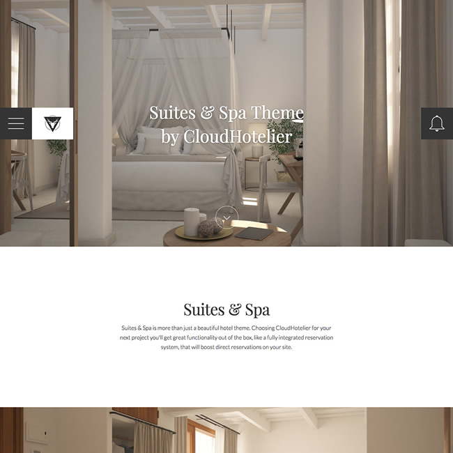 CloudHotelier Suites & Spa Hotel Theme