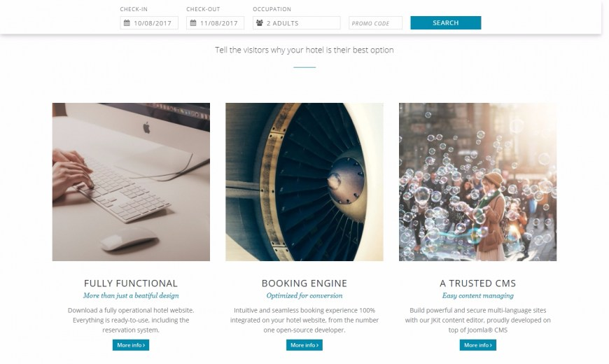 CloudHotelier - Elegant: the template that will improve your