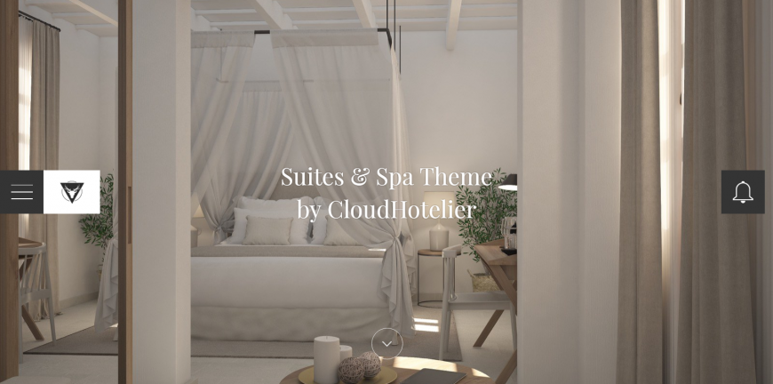 Suites & Spa, the new theme by CloudHotelier